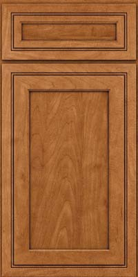 Square Recessed Panel - Veneer (ASMD) Maple in Praline w/Onyx Glaze - Base