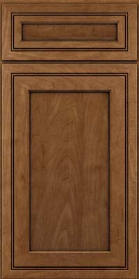 Square Recessed Panel - Veneer (ASMD) Maple in Rye w/Onyx Glaze - Base