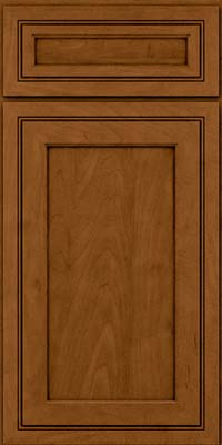 Square Recessed Panel - Veneer (ASMD) Maple in Rye w/Sable Glaze - Base