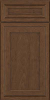 Square Recessed Panel - Veneer (ASM) Maple in Saddle - Base