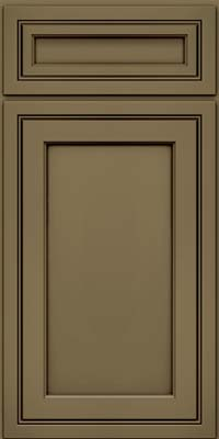 Square Recessed Panel - Veneer (ASMD) Maple in Sage w/Cocoa Glaze - Base