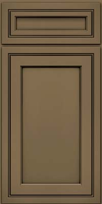 Square Recessed Panel - Veneer (ASMD) Maple in Sage w/Onyx Glaze - Base