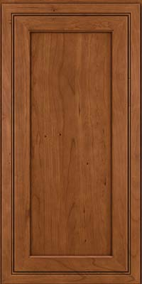Square Recessed Panel - Veneer (ASCD) Cherry in Antique Chocolate w/Mocha Glaze - Wall