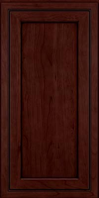 Square Recessed Panel - Veneer (ASCD) Cherry in Cabernet w/Onyx Glaze - Wall