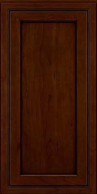 Square Recessed Panel - Veneer (ASCD) Cherry in Chocolate w/Ebony Glaze - Wall