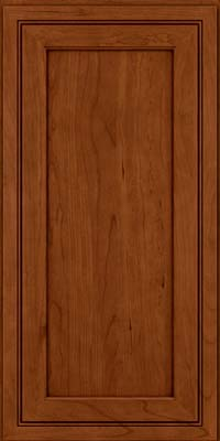 Square Recessed Panel - Veneer (ASCD) Cherry in Cinnamon w/Onyx Glaze - Wall