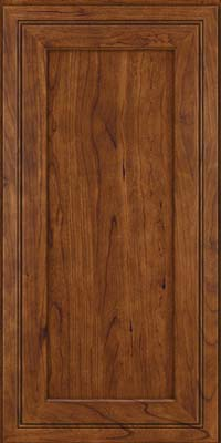 Square Recessed Panel - Veneer (ASCD) Cherry in Cognac - Wall