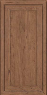 Square Recessed Panel - Veneer (ASC) Cherry in Husk Suede - Wall