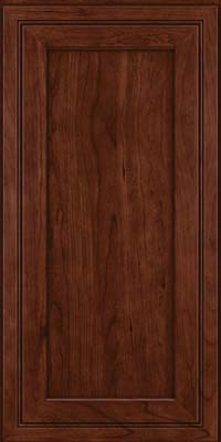 Square Recessed Panel - Veneer (ASCD) Cherry in Kaffe - Wall