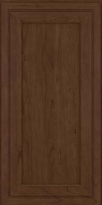 Square Recessed Panel - Veneer (ASC) Cherry in Saddle Suede - Wall
