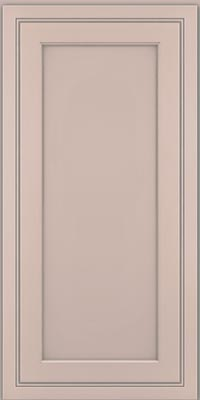 Square Recessed Panel - Veneer (ASMD1) Maple in Chai w/Cinder Glaze - Wall