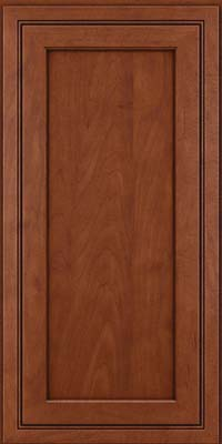 Square Recessed Panel - Veneer (ASMD) Maple in Chestnut w/Onyx Glaze - Wall