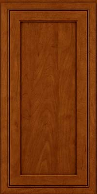 Square Recessed Panel - Veneer (ASMD) Maple in Cinnamon w/Onyx Glaze - Wall