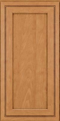 Square Recessed Panel - Veneer (ASMD) Maple in Ginger w/Sable Glaze - Wall