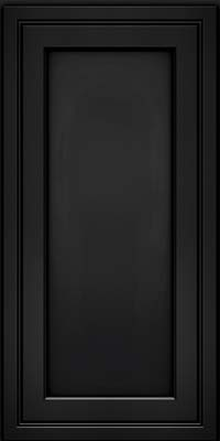 Square Recessed Panel - Veneer (ASMD) Maple in Onyx - Wall