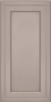 Square Recessed Panel - Veneer (ASM) Maple in Pebble Grey w/ Cocoa Glaze - Wall