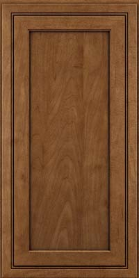 Square Recessed Panel - Veneer (ASMD) Maple in Rye w/Onyx Glaze - Wall