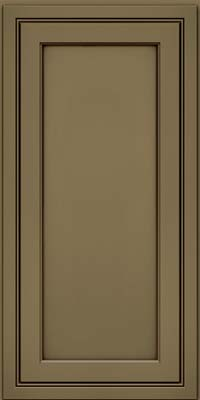 Square Recessed Panel - Veneer (ASMD) Maple in Sage w/Cocoa Glaze - Wall