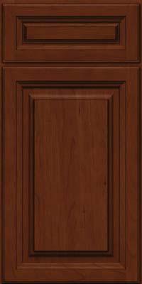 Square Raised Panel - Solid (BF) Cherry in Autumn Blush w/Onyx Glaze - Base