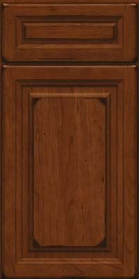 Square Raised Panel - Solid (BF) Cherry in Burnished Autumn Blush - Base