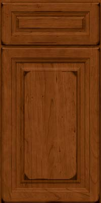 Square Raised Panel - Solid (BF) Cherry in Burnished Cinnamon - Base