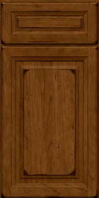 Square Raised Panel - Solid (BF) Cherry in Burnished Ginger - Base