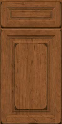 Square Raised Panel - Solid (BF) Cherry in Burnished Rye - Base