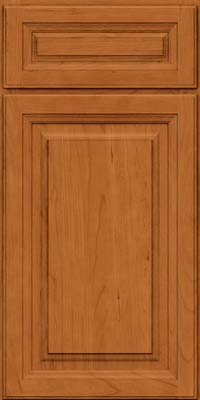 Square Raised Panel - Solid (BF) Cherry in Honey Spice - Base