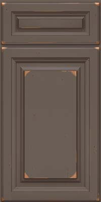 Square Raised Panel - Solid (BF) Cherry in Vintage Greyloft w/ Sable Patina - Base