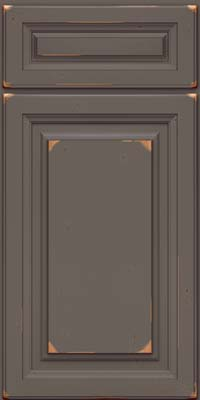 Square Raised Panel - Solid (BF) Cherry in Vintage Greyloft - Base
