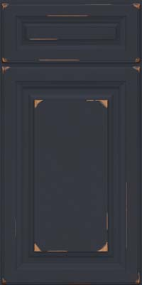 Square Raised Panel - Solid (BF) Cherry in Vintage Midnight - Base