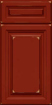 Square Raised Panel - Solid (BF) Cherry in Vintage Cardinal - Base