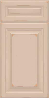 Square Raised Panel - Solid (BF) Cherry in Vintage Mushroom w/ Cinder Patina - Base