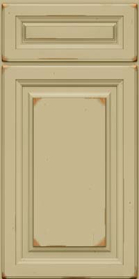 Square Raised Panel - Solid (BF) Cherry in Vintage Willow - Base