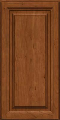 Square Raised Panel - Solid (BF) Cherry in Antique Chocolate w/Mocha Glaze - Wall