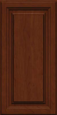 Square Raised Panel - Solid (BF) Cherry in Autumn Blush w/Onyx Glaze - Wall