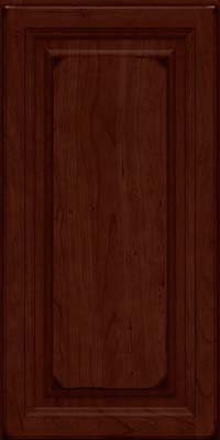 Square Raised Panel - Solid (BF) Cherry in Burnished Cabernet - Wall