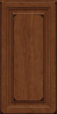 Square Raised Panel - Solid (BF) Cherry in Burnished Chocolate - Wall