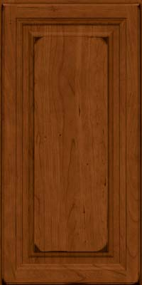 Square Raised Panel - Solid (BF) Cherry in Burnished Cinnamon - Wall