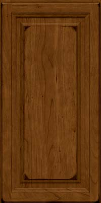 Square Raised Panel - Solid (BF) Cherry in Burnished Ginger - Wall