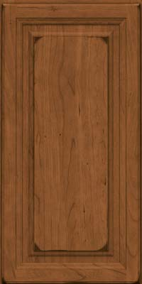 Square Raised Panel - Solid (BF) Cherry in Burnished Rye - Wall