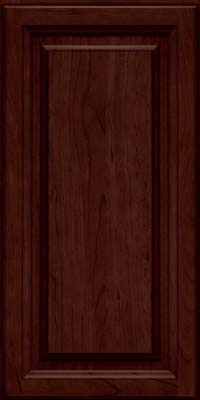 Square Raised Panel - Solid (BF) Cherry in Cabernet - Wall