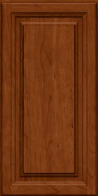 Square Raised Panel - Solid (BF) Cherry in Cinnamon - Wall
