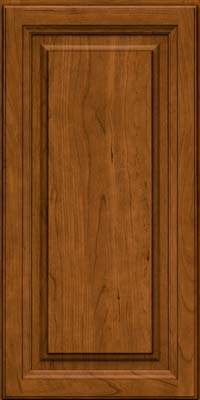 Square Raised Panel - Solid (BF) Cherry in Golden Lager - Wall