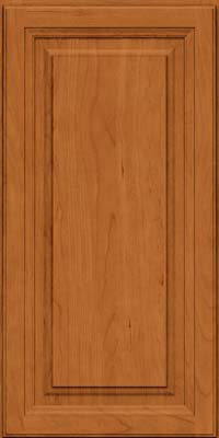 Square Raised Panel - Solid (BF) Cherry in Honey Spice - Wall