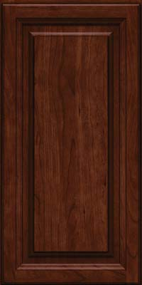 Square Raised Panel - Solid (BF) Cherry in Kaffe - Wall