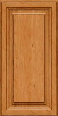 Square Raised Panel - Solid (BF) Cherry in Natural - Wall