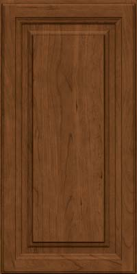 Square Raised Panel - Solid (BF) Cherry in Rye w/Sable Glaze - Wall