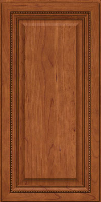 Square Raised Panel - Solid (BF) Cherry in Sunset - Wall