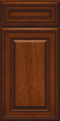 Square Raised Panel - Solid (BLC) Cherry in Autumn Blush - Base